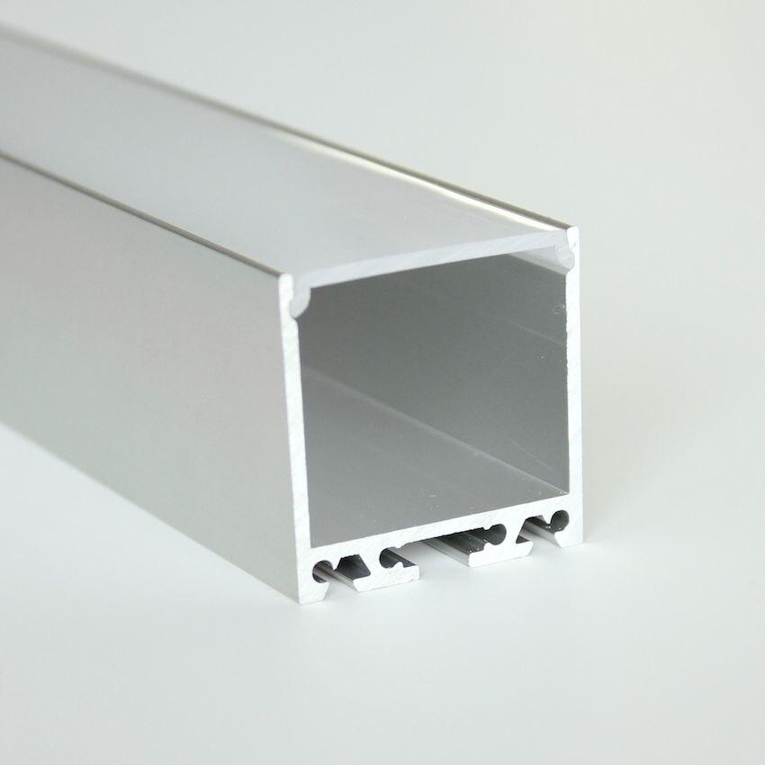 12m (6pcs) a lot, 2m per piece, Anodized diffuse aluminum led lighting profile, led aluminum profile channel