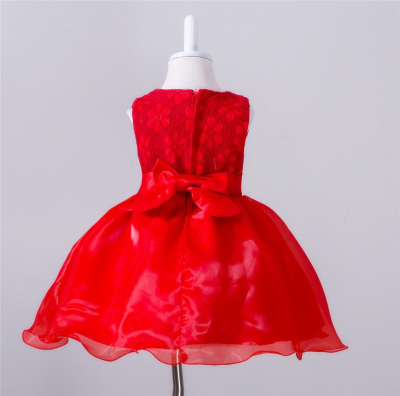 Baby Christening Bow Dress (1)