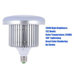 Image 5 - Andoer フォトスタジオ写真 135 ワット LED ランプ電球 132 ビーズ 5500 k E27 写真照明