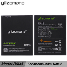 YILIZOMANA Li-ion Battery BM45 For Xiaomi RedMi Note 2 Bateria Hongmi Red Rice Note2 3000mAh Original Replacement +Cable