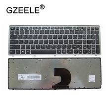 GZEELE NEW US Keyboard For Lenovo Ideapad Z500 Z500A Z500G P500 P500A Laptop US English laptop keyboard silver Without Backlit