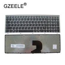 GZEELE nuevo teclado de EE.UU. para ordenador portátil Lenovo Ideapad Z500 Z500A Z500G P500 P500A, teclado inglés de EE. UU., plateado sin retroiluminación