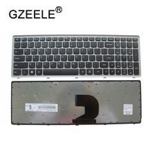 Gzeele 新米国レノボ ideapad Z500 Z500A Z500G P500 P500A ラップトップの米国英語ノートパソコンのキーボードシルバーバックライトなしで