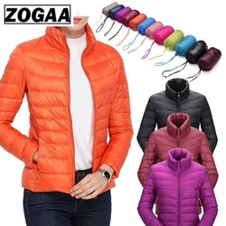 ZOGAA Women's Parkas Winter Jacket Coat For Woman Casual Solid Stand Collar Parka Jackets Female Cotton Coat Slim Fit Outwear 6