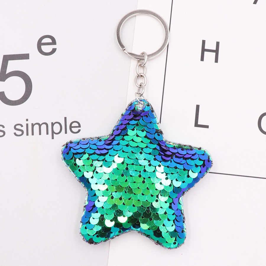 ... New Chaveiro Star Keychain Glitter Pompom Sequins star Key Chain Gifts  for Women Car Bag Accessories ... 4747108074