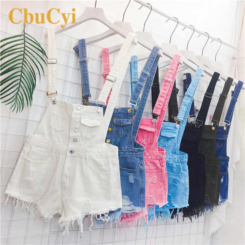 CbuCyi модные джинсовые комбинезоны для женщин комбинезон женский джинсовый пляжные женские комбинезоны Salopette ремни Комбинезоны Шорты Комбинезоны