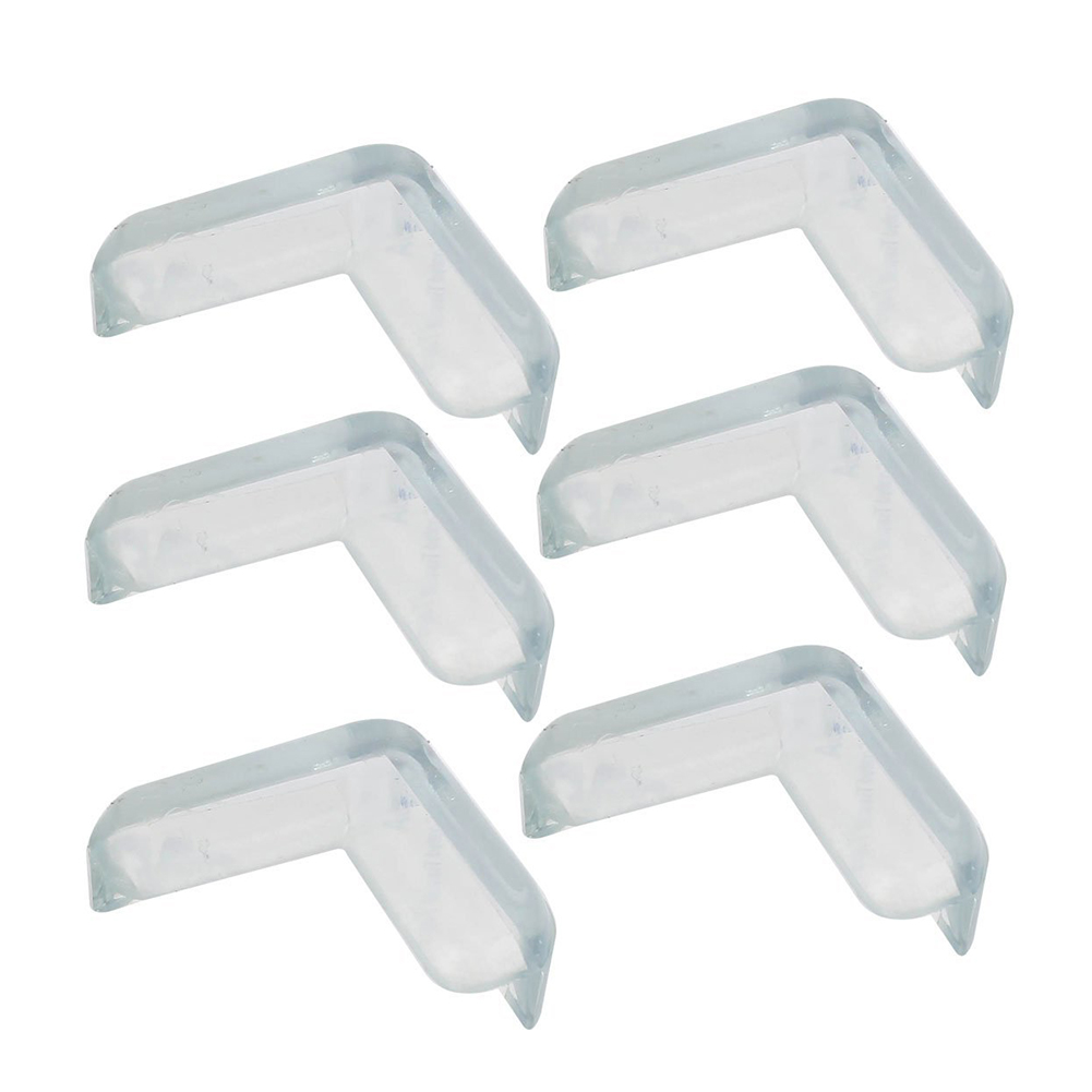 6 Pcs Soft Rubber Desk Corner Pad Cover Protector Cushion Transparent