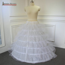 Petticoat Ball-Gown Short Wedding-Dress for Length 102cm 6-Rings 6-Layers Tulle High-Quality