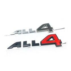 Adesivo emblema all4 de liga de zinco, adesivo de metal para mini cooper s, contador, peaceman, clubman