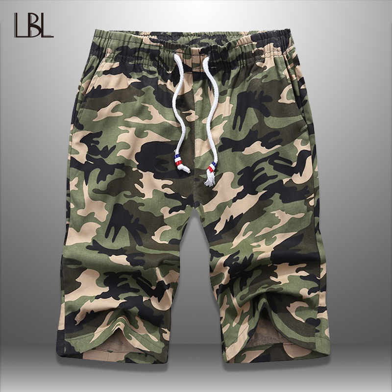 LBL Camouflage Shorts Bodybuilding Mens Fashion Summer Casual Breathable Man