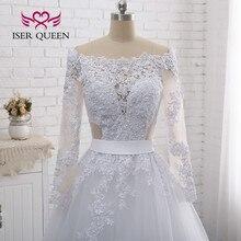 Сексуальное свадебное платье с длинными рукавами и кружевной вышивкой в европейском стиле, свадебное платье es W0274