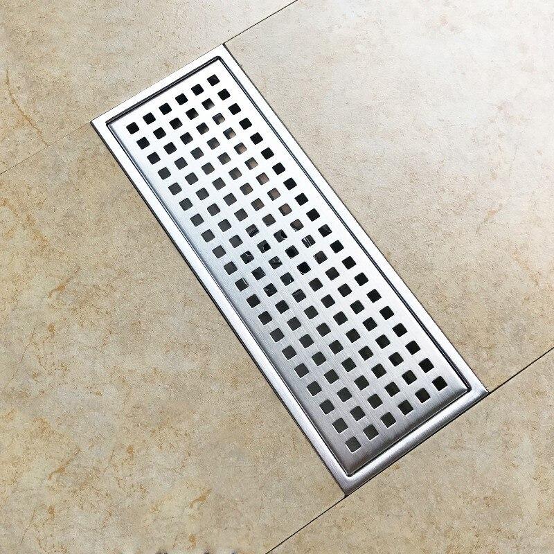 Grand débit 300*110mm en acier inoxydable Anti odeur Drain de sol renversement cuisine évier crépine Drains égouttoir de douche - 2