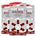 30 pcs rayovac baterias do aparelho auditivo 312 312a desempenho extra. bateria do aparelho auditivo ar zinco free grátis 312/a312/pr41