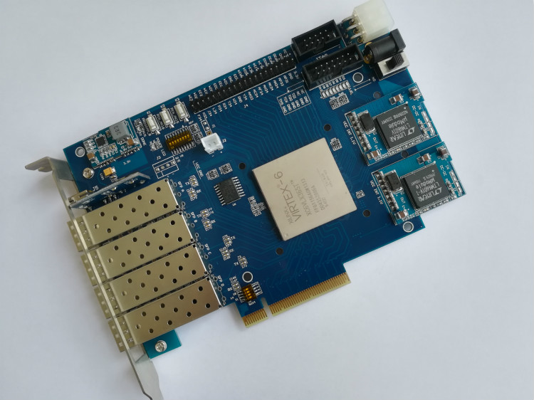 VIRTEX 6 XC6VLX365T VIRTEX 6 board xilinx board xilinx fpga pcie board xilixn fpga development board