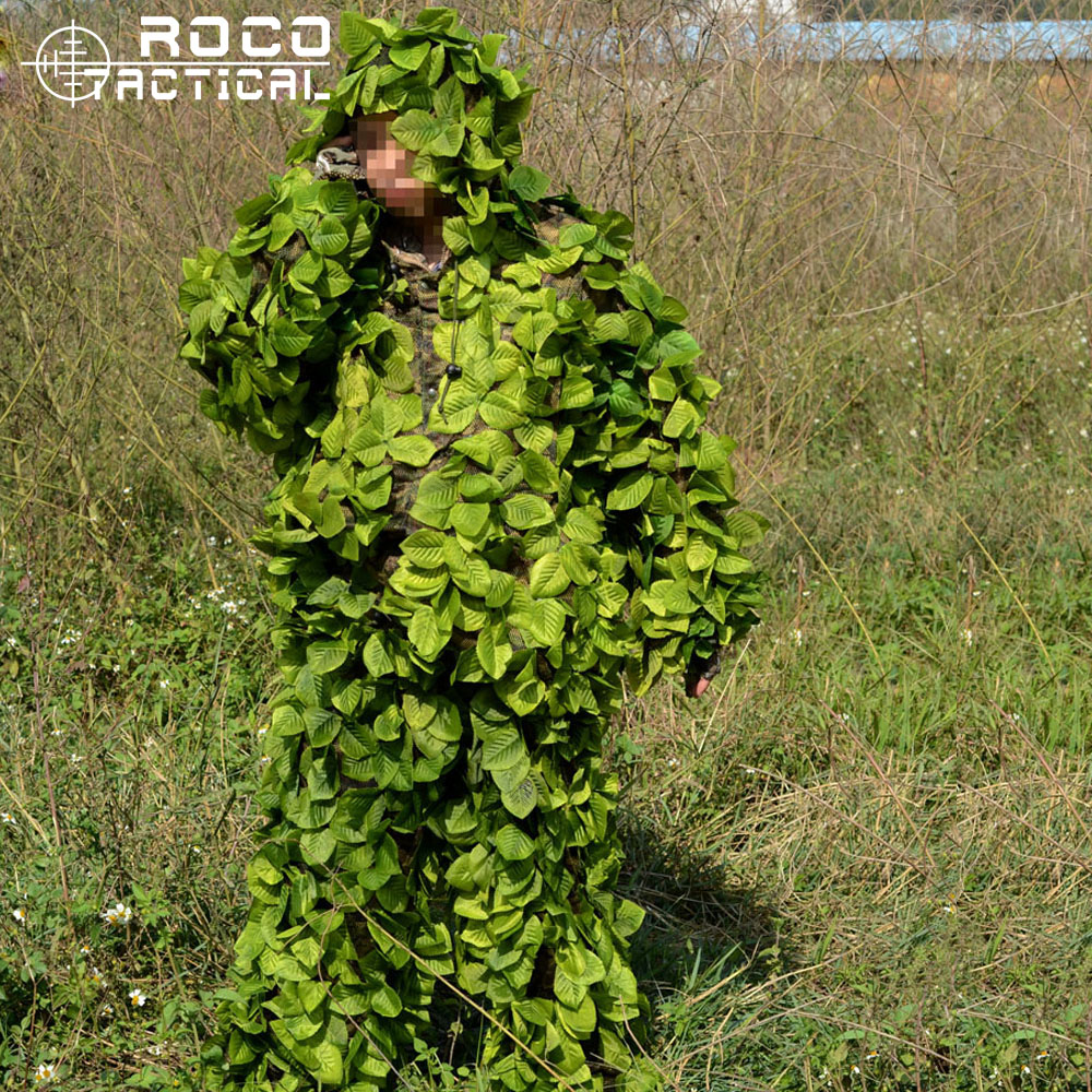 ROCOTACTICAL Camo Leavy Ghillie Suit Lightweight Hunting Camouflage Clothing Breathable