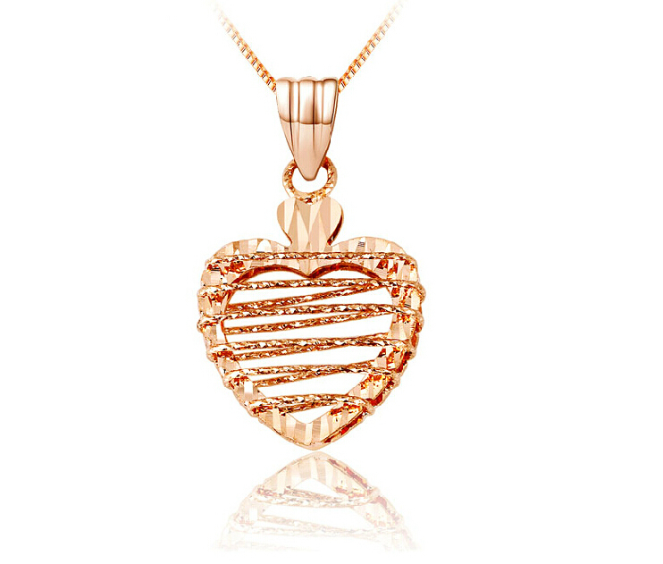 Real Rose Gold Pendant / Bless Hollow Heart Pendant семена rose heart 988