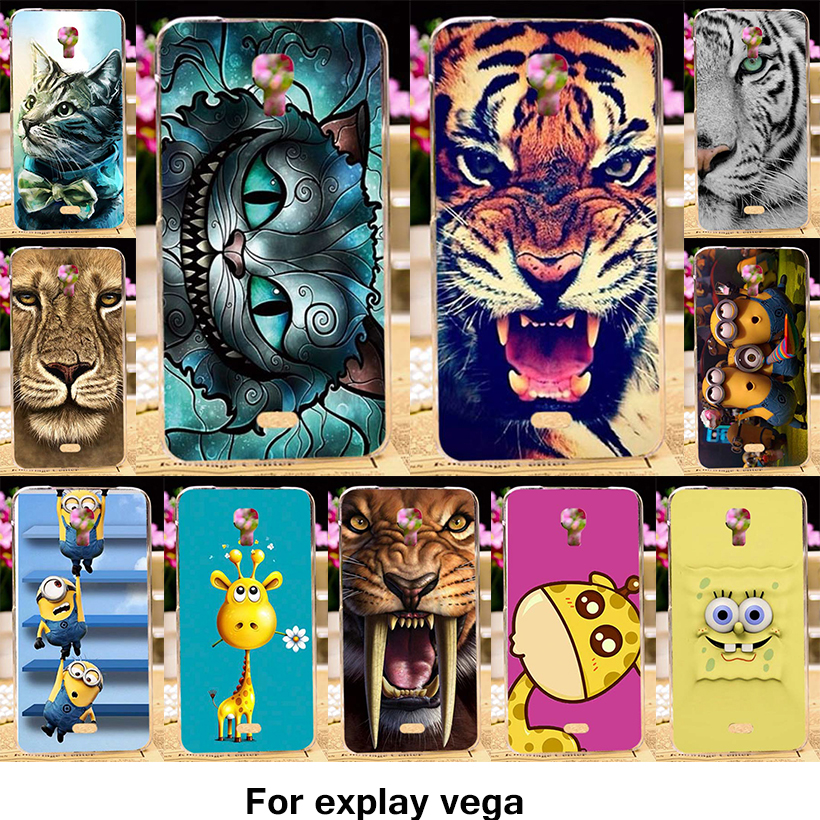 TAOYUNXI Phone Case For Explay Vega 4.7 inch Case Soft TPU Silicone Hard Plastic Lovely Animal Patterns Cover Bags Skin
