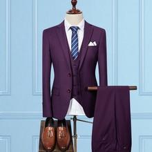 New Arrival Mens Suits With Pants Slim Fit Suits Men Business Wedding Groom Leisure Tuxedo 2018 Latest Coat Pant Designs S-3XL