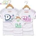 Nuevo 2017 camisetas de algodón a juego de la familia camiseta de la marca de ropa de la familia de padre e hijo de trajes madre hija juego clothing f006