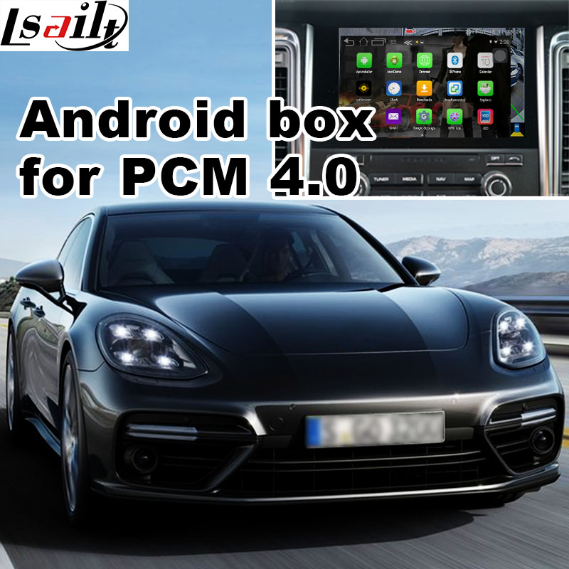 Android 6.0 GPS box navigation pour Porsche Macan Cayene Panamera PCM 4.0 optioanl Carplay youtube waze yandex vidéo interface