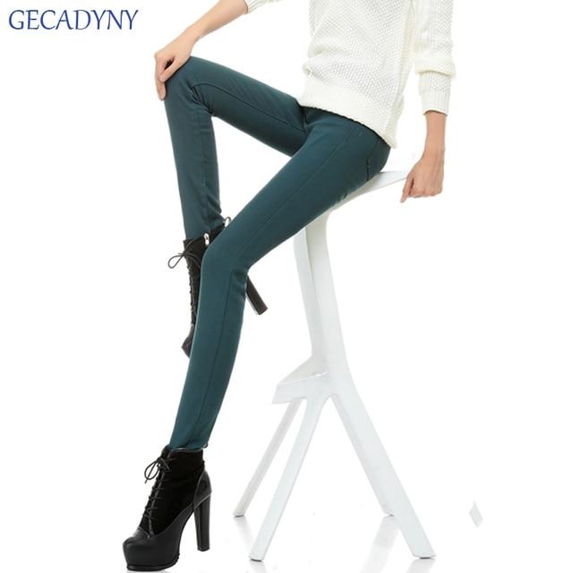Осень Зима плюс толстый бархат леггинсы женские плюс размер карандаш брюки флис теплые брюки женские длинные брюки упругие Джинсы
