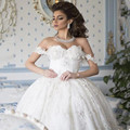 Plus size wedding dresses ball gown wedding dresses Lace Applique arab Wedding Dress 2017 Sweetheart arabic bridal dresses ivory