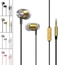 Super Bass Headset Stereo Sound Earphone In-Ear Sport Earphones with mic for xiaomi iPhone Samsung MP3 Earpods Hifi Wried Metal