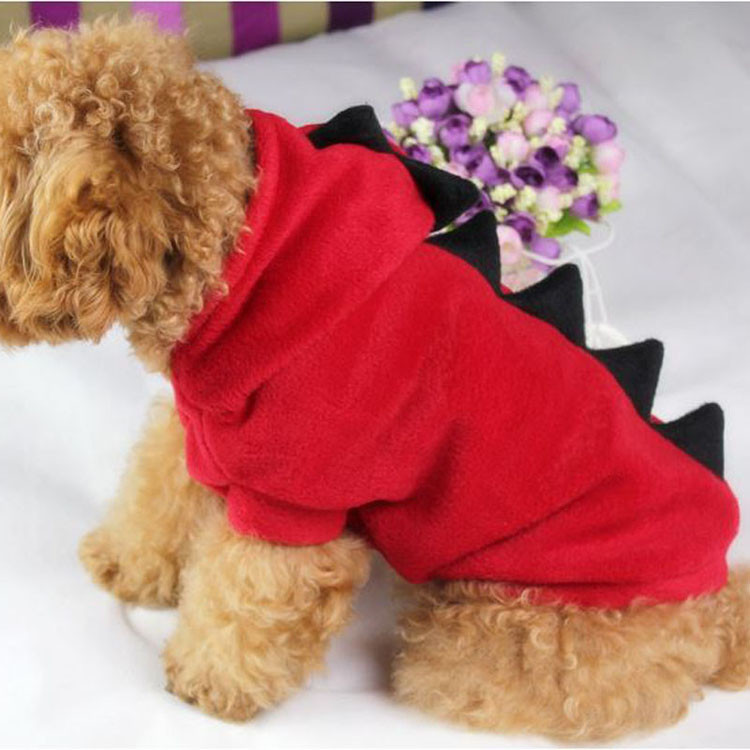 Novelty Pet Dog Hoodie For Small Dogs Clothes Winter Dinosaur Puppy Coat Clothing For Chihuahua Cat Costume XS S M L XL 1295
