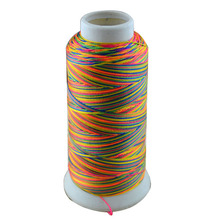500D/3 high tenacity polyester sewing thread colors 6# embroidery ,Free shipping.