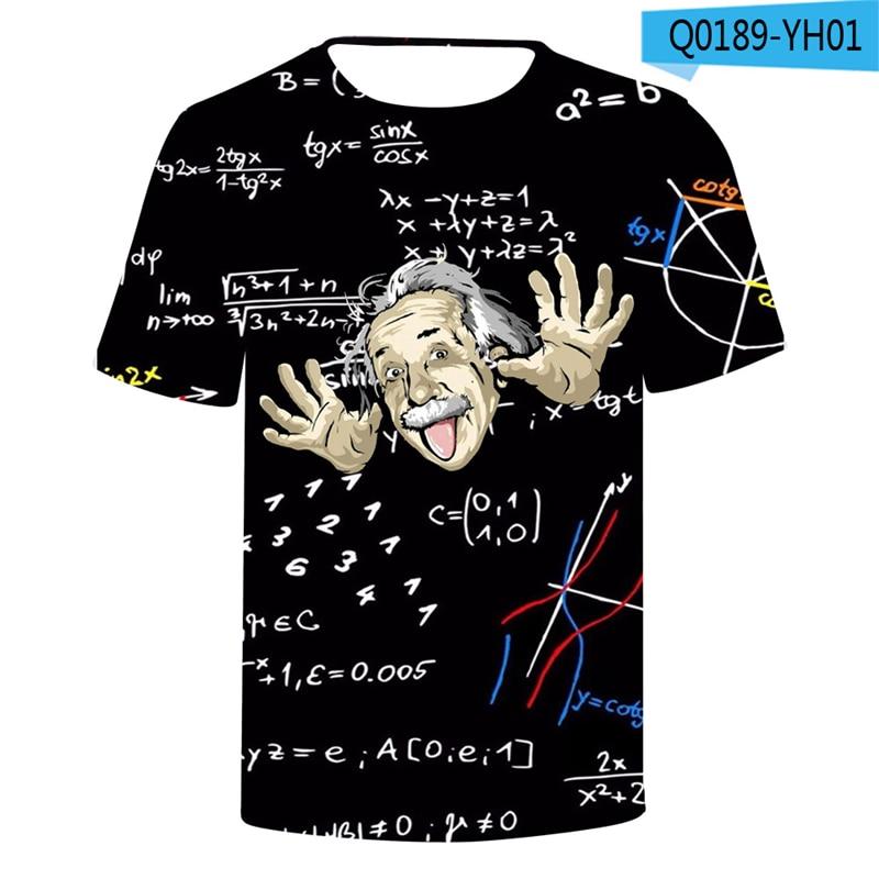 Einstein Tshirt Black Hole Humorous Head Shirts Relativistic Formula 3D Clothings Funny Men Tshirt And Tops Einstein Clothes Price $13.98