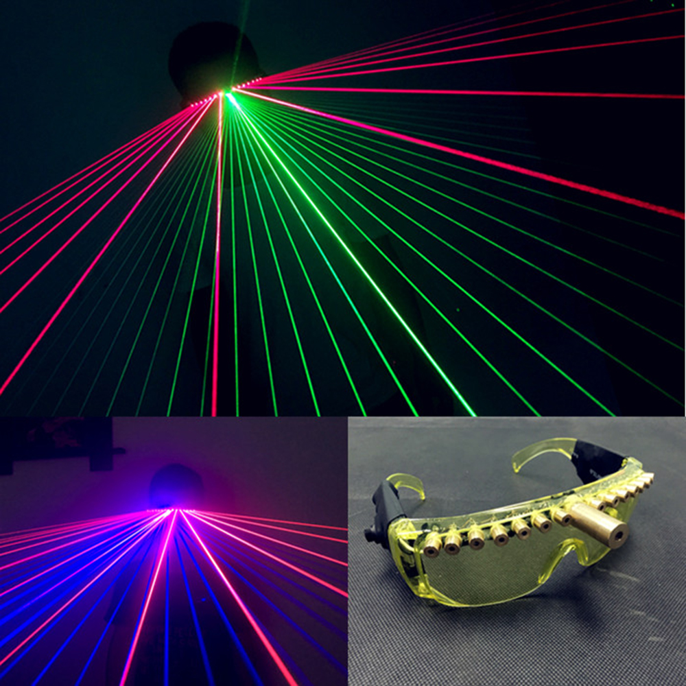 Personality stage DJ glasses KTV laser Eyeglasses for performance party nightclub show disco light 40 beam