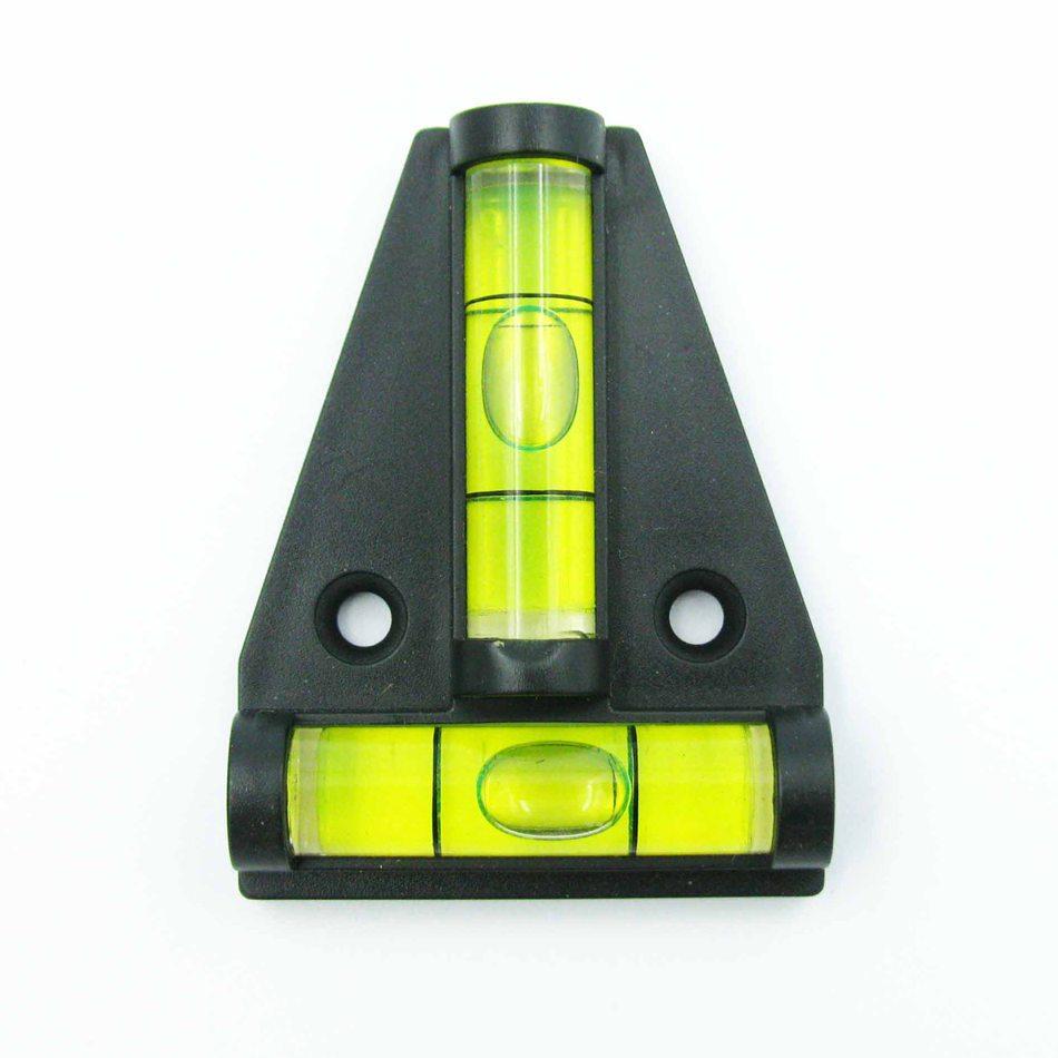 50 pieces lot T type spirit level measurement instrument Triangular Plastic level indicator Shell Black