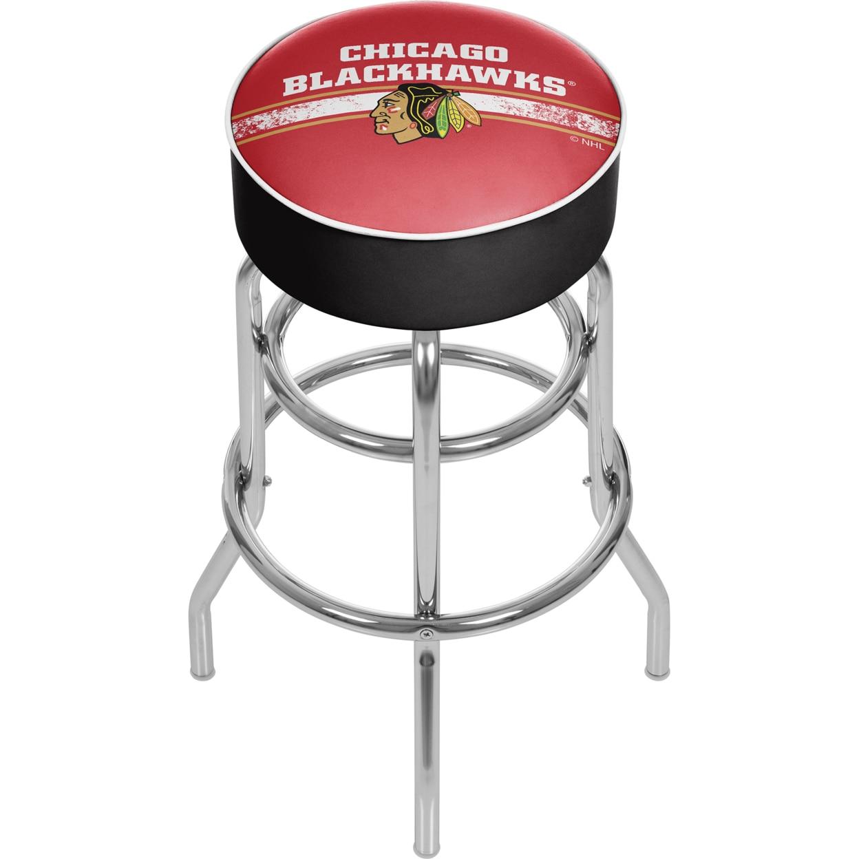NHL Chrome Bar Stool with Swivel - Chicago Blackhawks майка борцовка print bar chicago blackhawks