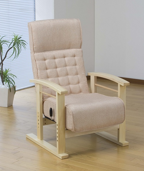 Japanese Style ArmChair Folding Furniture Legs Height Adjustable Lazy Arm  Chair For Elderly Home Living Room