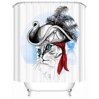 3d Shower Curtain Anti Mold Cat Print Pattern Waterproof Bathroom Curtain Liner Product