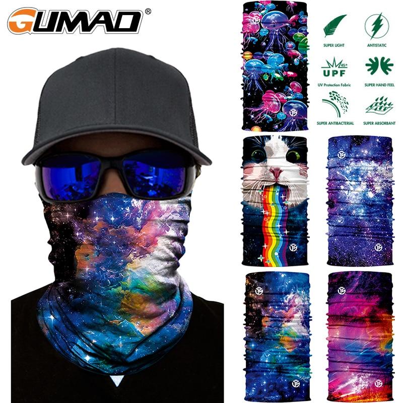 3D Galaxy Seamless Magic Neck Gaiter Face Mask Shield Tube Running Cycling Camping Ski Fishing Bandana Headband Scarf Men Women
