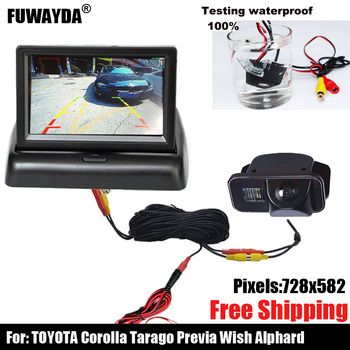 free shipping!!!CAR REAR VIEW REVERSE BACKUP HIGH QUALITY SONY CHIP CAMERA FOR Toyota Corolla Tarago Previa Wish Alphard image
