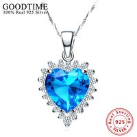 100 925 Sterling Silver Pendant Necklaces Pure Sterling Silver 925 Necklace Real Silver Collar Colar De