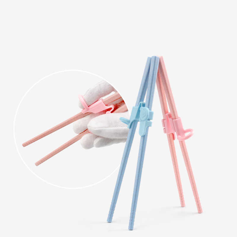 3 Pairs Lovely Cartoon Bear Chopsticks Accessories Kids Learning Training Use Chinese Chopsticks Gadget Kitchen Tableware