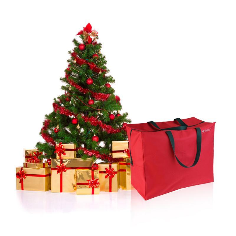 red holiday christmas tree storage bag roomy zippered bag for artificial christmas tree with handles - Christmas Tree Storage