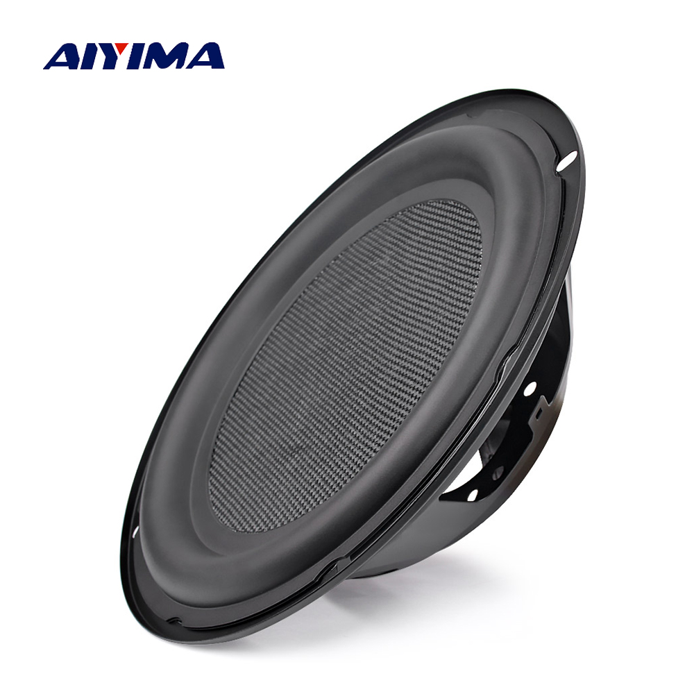AIYIMA 1Pcs 8Inch 10Inch Bass Radiator Speaker Passive Radiator Diaphragm Auxiliary Bass Vibration Membrane Speaker Accessories
