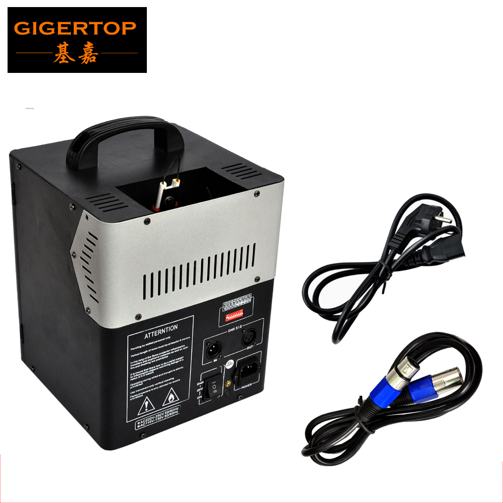 CHINA TIPTOP Stage Flame Special Effect Machine 2 Channels Fire Projector CE Certification Dual Butane Gas Cans Led Stage Lights