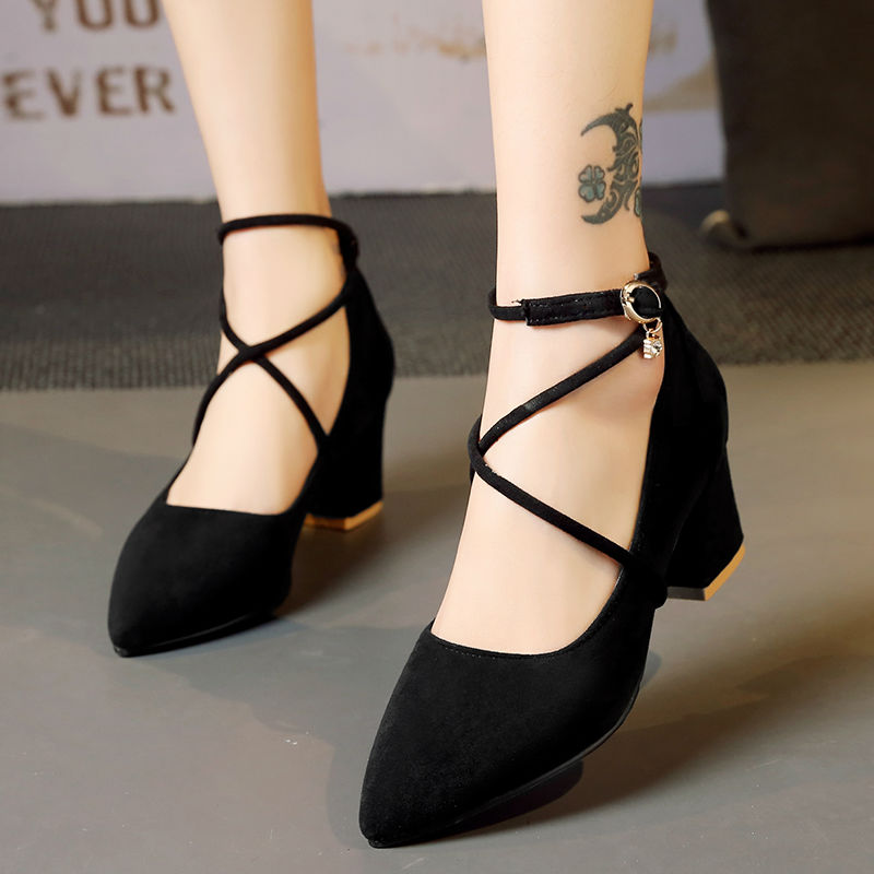 Womens spring antumn shoes 2017 new black fashion sexy high heels pointed toe office ladies shoes plus size heels big size40-43 new spring autumn women shoes pointed toe high quality brand fashion ol dress womens flats ladies shoes black blue pink gray