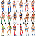 Euro cup Fantasy Football Costume soccer baby football girl sexy shorts cheerleaders team sets sports suit 11 countries