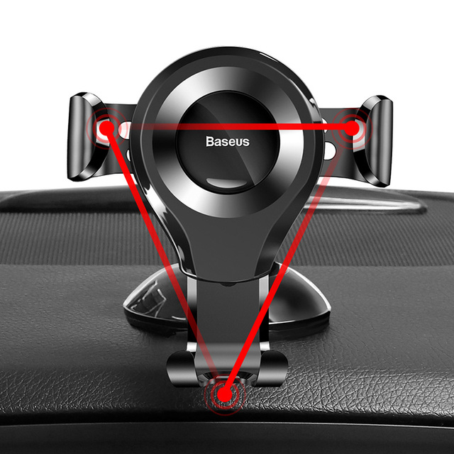 Baseus Gravity Car Phone Holder Support Sucker Strong Suction Cup For Xiaomi Samsung Mobilephon Car Mount Auto Phone Stand