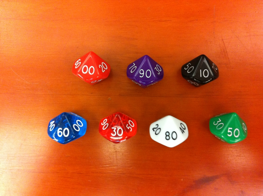 D&D D10 (00 - 90) dice polyface الرقمية boulimia trpg dice Dungeons & Dragons dice، Percentile dice، TRPG GAME