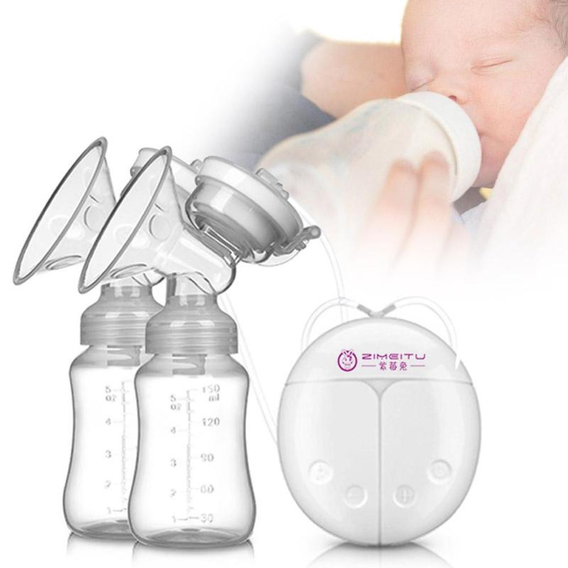 Intelligent USB electric breast pumps baby BPA Free Postpartum Breast feeding Breast milk suckers Single breast pump A4
