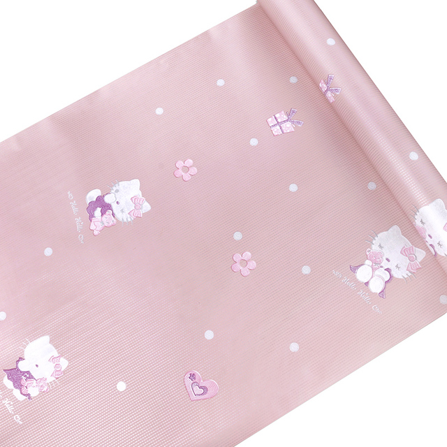 Kids Design Hellokitty Wallpaper Self Adhesive Vinyl Waterproof