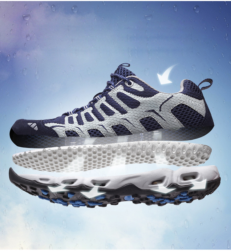 New 2017 Summer Unisex Aqua Shoes Air Mesh Clorts Outdoor Shoes Women Sneakers Lace Up Breathable Hiking Shoes Size 35-44 V1 (5)