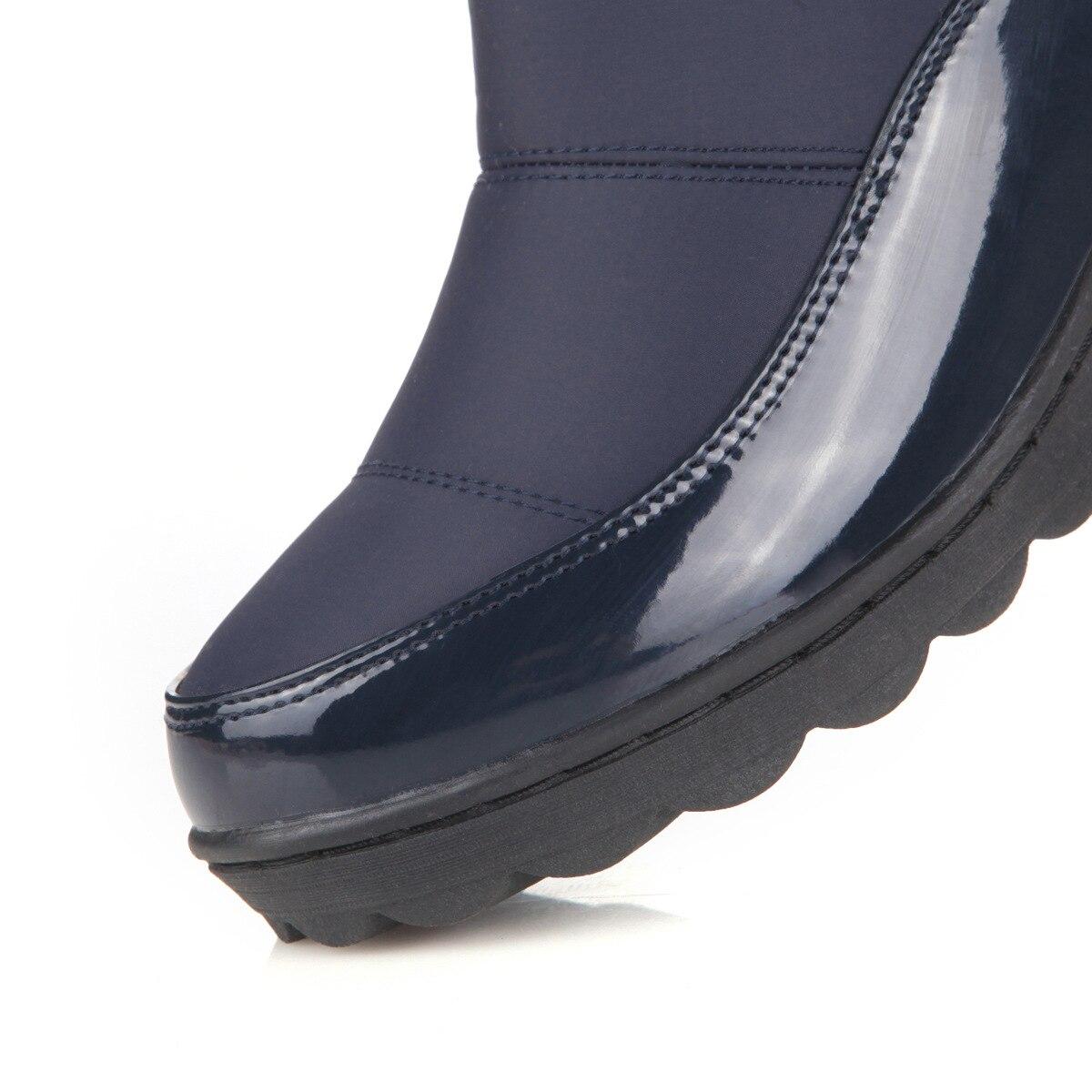 azul Negro Agutzm Botas Moda Impermeables Invierno Muslo Caliente Redonda Piel Rusia Punta Nieve Mujer Rodilla qURW4p6qf